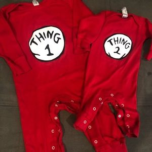 Other - Thing 1 Thing 2 costume pajamas